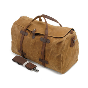 Fashion Design Canvas Material Big Business Waterproof Travel Bag For Man