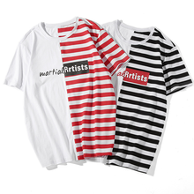 Stripe Male Printing Literature Art Street Net Red Short Sleeves custom men sweater t shirts