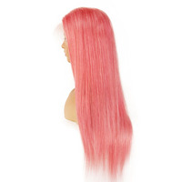 Lace Wig Samples Human Hair Transparent Lace Pink Wig Mink Brazilian Full Lace Wig