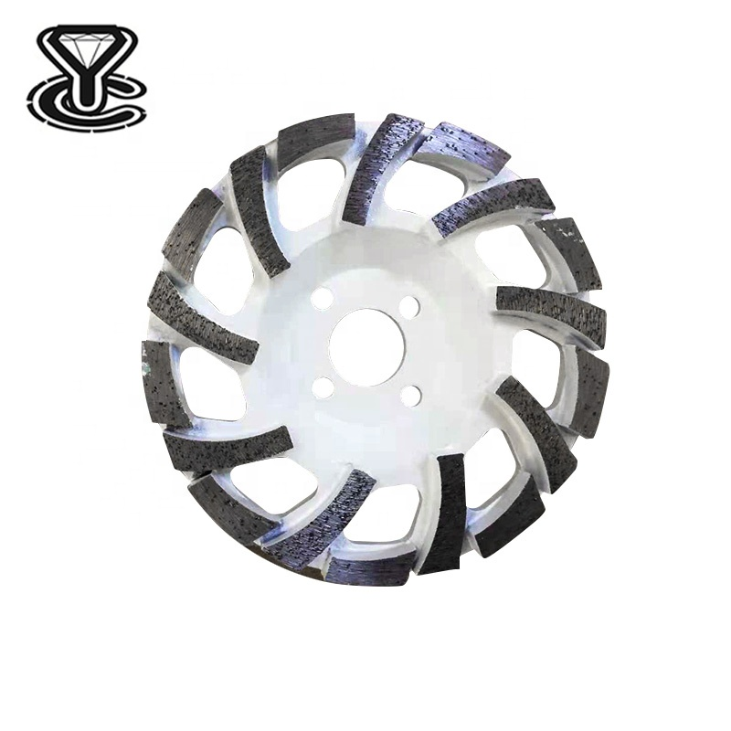 5,6,7 Inch High Frequency Welding diamond cup <strong>wheel</strong> L Type Segment Diamond Grinding <strong>Wheel</strong>