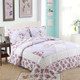 Hotel Supplies Wholesale Bed Sheet Hotel Bed Set Floral Soft Hand Made Quilt