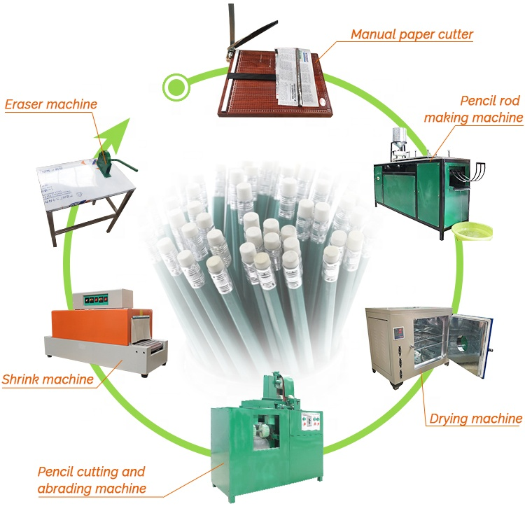 waste recycled paper newspaper pencil making machine production line machines