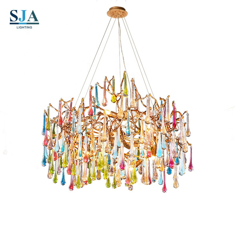 Colorful chandelier moroccan lamp pendant <strong>light</strong> glass decorative drawing room <strong>light</strong>