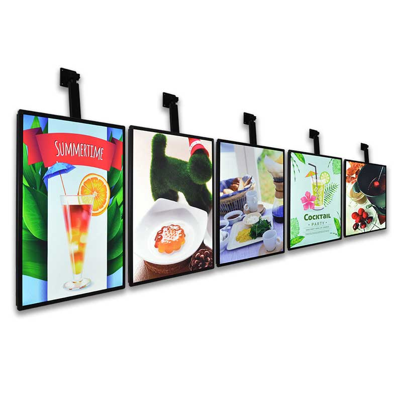 Restaurant display menu board fast food display counter cheap menu board