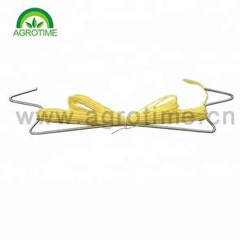 Tomato Hook with twine rope Galvanized steel with twine PP rope