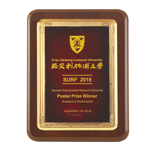 Wholesale Ready To Ship Popular MDF Wood Trophy For Business Souvenir MOQ 1pc