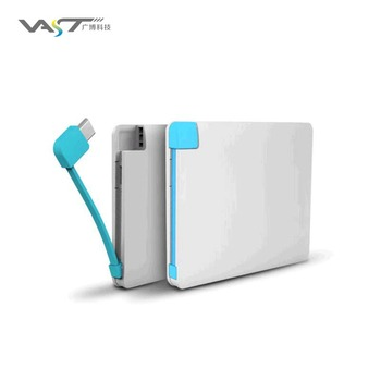 VPB-J002 Thin Card Style Polymer  Power Bank Portable Charger
