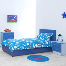 Blue Gloss Two Tone | Modern Bedroom <strong>Furniture</strong> Units &amp; Trio Sets