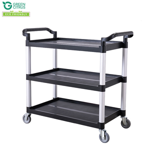 TOPSALE 3 Tiers Restaurant Utility Cart Food Trolley Cart Service Cart Wholesale