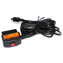 Car system vehicle 12v-24v Male Obd ii To Mini Usb ACC and Parking model switch Charging Cable 16pin Obd2 Adapter