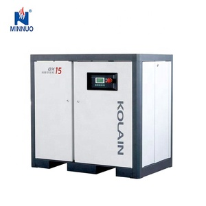 Screw compressor with air dryer and air tank