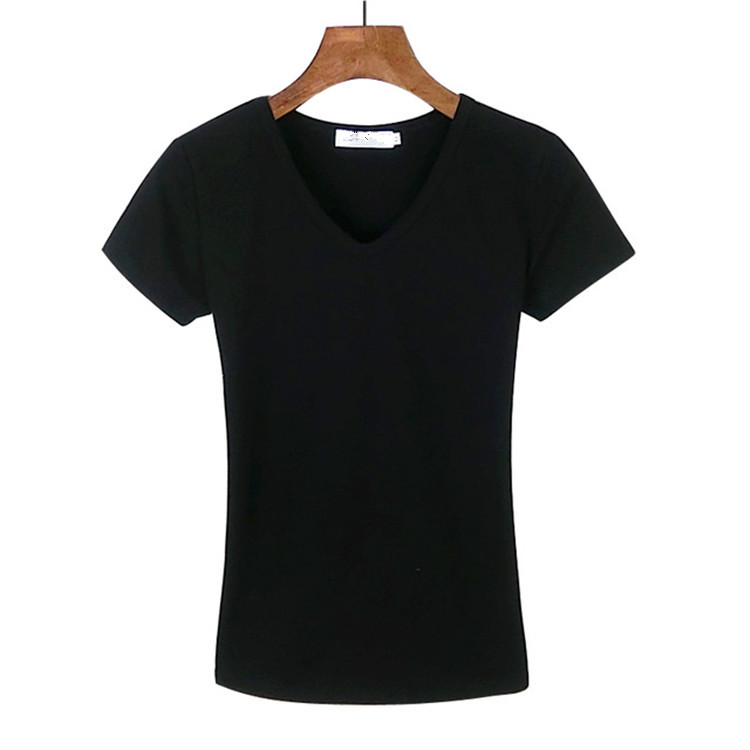 Wholesale <strong>Design</strong> Women's Cotton V-Neck T Shirt