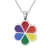 Wholesale rainbow jewelry flower shape gay necklace