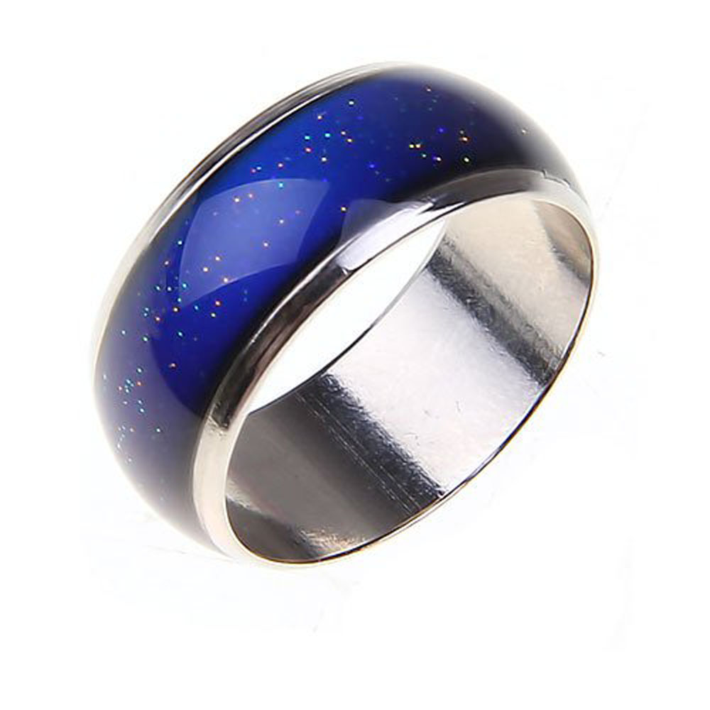 2019New Stainless <strong>Ring</strong> Changing Color Mood <strong>Rings</strong> Feeling / Emotion Temperature <strong>Ring</strong> Wide 6mm Smart Jewelry Factory direct sale