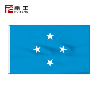 large outdoor national flags of the world , Custom printed polyester checkered Micronesia flag
