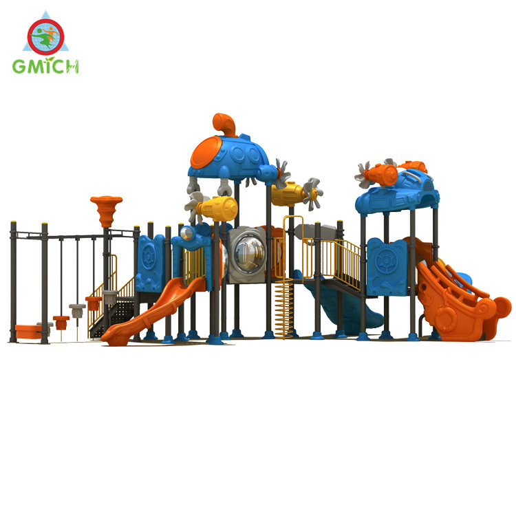 Outdoor playground slides for kids large plastic school playgrounds