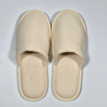 Custom disposable organic cotton eco friendly hotel slippers