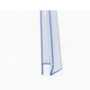 PVC frameless bathroom tempered glass door water seal rubber strip