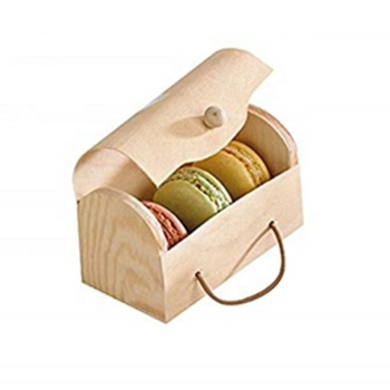 Hot sale beautiful birch veneer cheese cake packing boxes