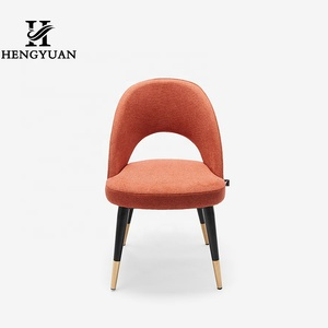 Open Back Metal modern meeting room furniture simple design soft  Dining Leisure  chair