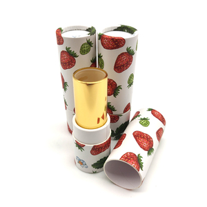 Biodegradable cosmetic cardboard customized lip balm packaging paper tube lipstick