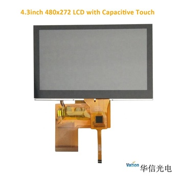 4.3inch LCD panel 480x272/ 500nits high brightness with touch screen and LCD controller board with HDMI/VGA/CVBS/AUDIO