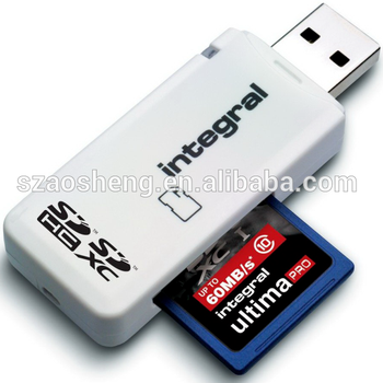 Desktop USB2.0 sd memory card reader  USB card reader SDCARD adaptor