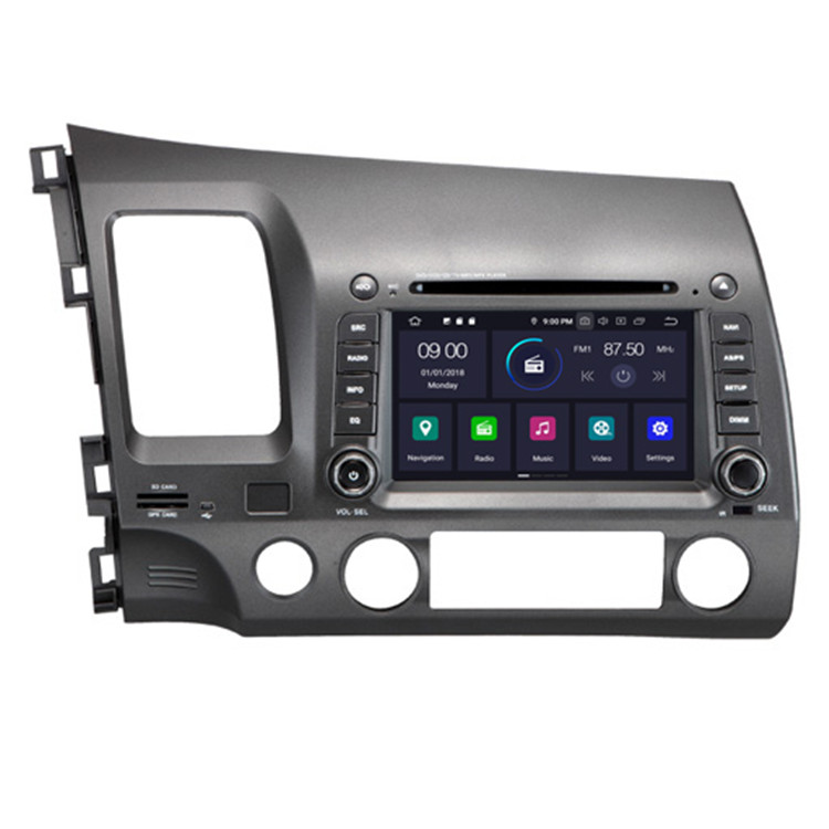 HIFIMAX Android 9.0 car dvd for honda civic 2006 2007 2008 2009 2010 2011 Left Hand Drive 7 inch car gps navigation system