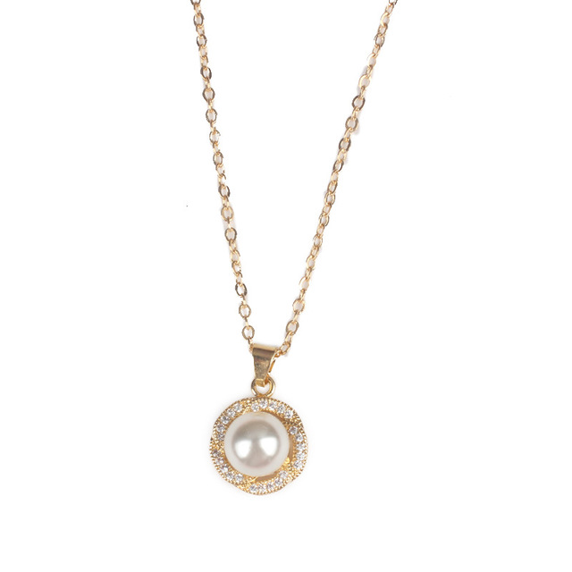 High-end <strong>fashion</strong> contracted handmade set auger short popular pearl women necklace