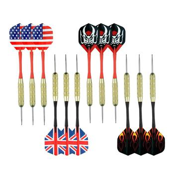 12pcs 18 Gram Soft Tip Darts with  PET Flights, Brass Barrels, POM Shafts with 100 PCS extra Soft Tip Points for Bar Game Darts