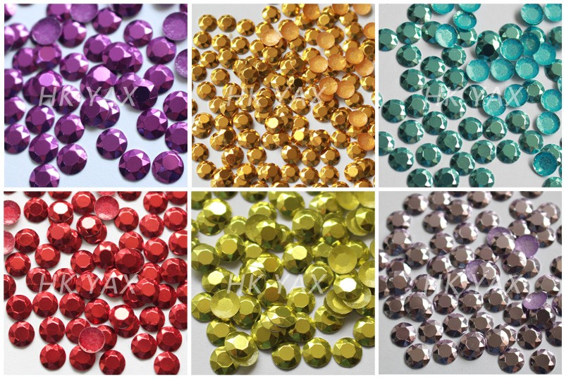LanLee0910-- Various Colors HotFix Korean Rhinestud Pink High Quality Studs,Hot Transfer Siam Red Drill For Jeans And Shoes
