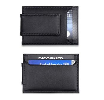 Genuine leather RFID blocking credit card holder