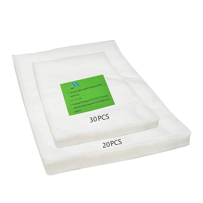 Wholesale Food <strong>Material</strong> Vacuum Seal Bag Two Size 8&quot;<strong>x10</strong>&quot; (30bags)+11&quot;x14&quot;(20bags) /Set Food Vacuum Sealer