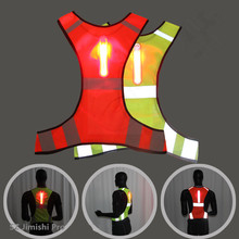 Fluorescent Mesh Cycling <strong>Safety</strong> LED Flashing Lighted Reflective Running Vest