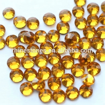 Y0903 hotfix DMC Crystals motifs yellow ss20 5mm 100 gross, china YAX top quality transfer DMC Pedreria,iron-on MC strass