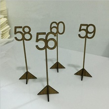 Rustic Wood-made Wedding Table Markers, Wooden Table Number/Numbers, Banquet Table Marker
