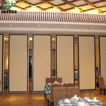 Customized Restaurant Movable Partition Wall Manual Movable Partition Panel Material