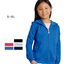 Wholesale oem good quality 270gsm 50% cotton 50% polyester long sleeve blank with zip custom <strong>children</strong> kids pullover <strong>hoodie</strong>