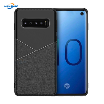Maxshine Brand  Leather Pattern Soft TPU Cover Slim Business Style For Samsung S10 /S10 Plus/S10E