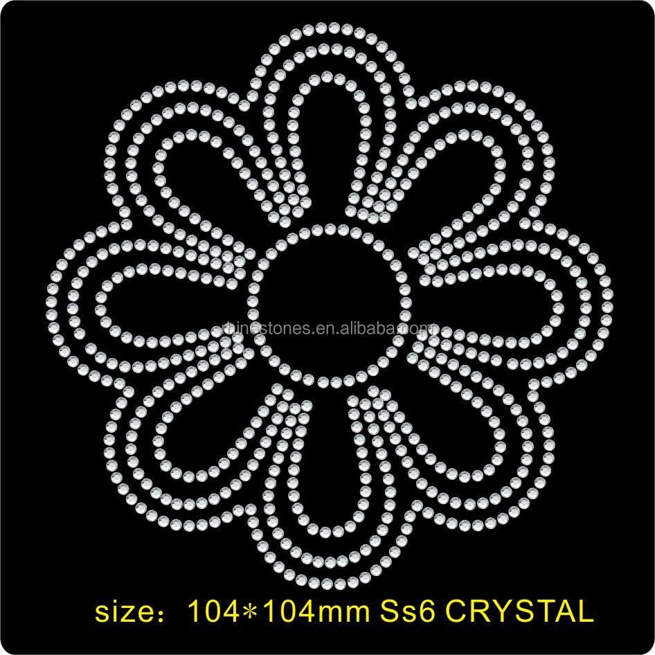Y0813  SS6 wholesale rhinestone appliques  custom   hot fix peace motif,transfer rhinestone motifs design