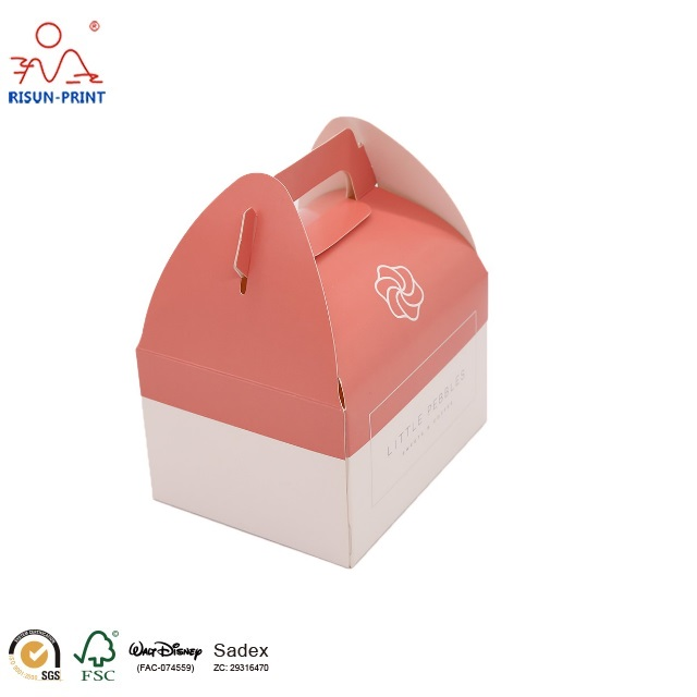 gable boxes / beautiful gift paper box / decorative cake boxes with handle