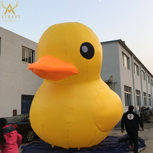 outdoor promotion used giant inflatable yellow duck mascot balloon for advertising