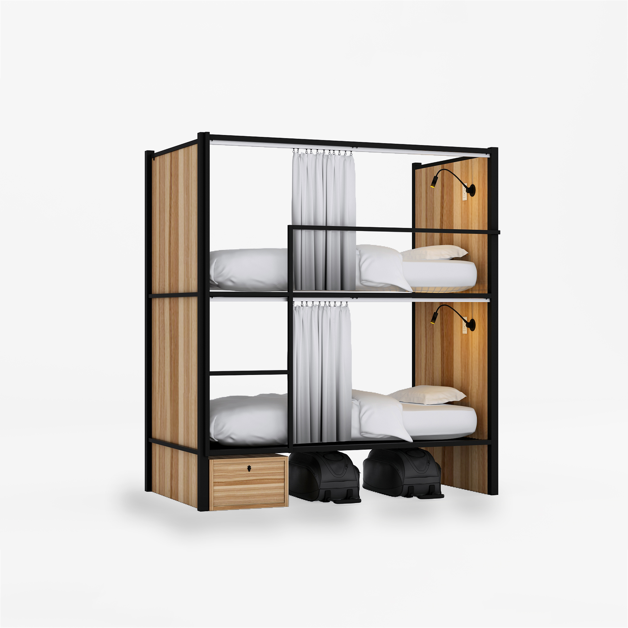 Wood capsule Bunk <strong>Bed</strong> for Hostels /School Students Dormitory Loft <strong>Bed</strong> Frame/capsule hotel <strong>bed</strong>