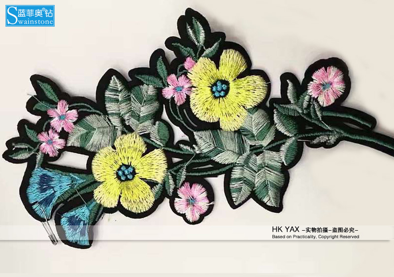 W1113 China factory good quality Fruits iron-on cloth embroidered patch