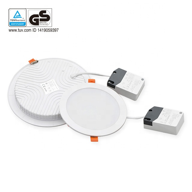 TUV GS approved flicker free 120lmw cct watt adjustable slim LED panel <strong>downlight</strong>
