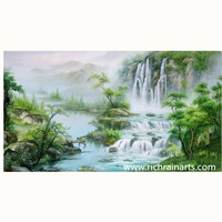 Richrain Canvas Landscape Oil Painting Decoration For Living Room Hotel