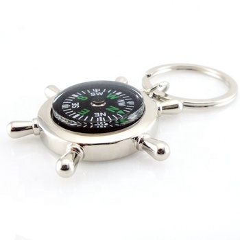 nautical anchor with compass keychain CD-KR057