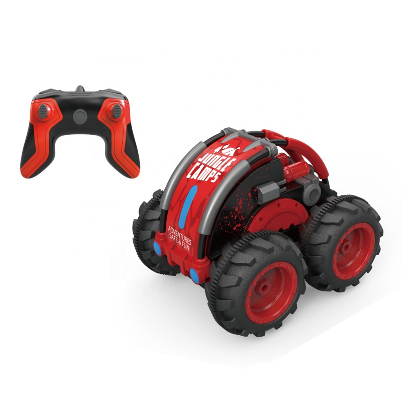 Top sale 1:<strong>10</strong> fancy <strong>remote</strong> control amphibious stunt car toy for children