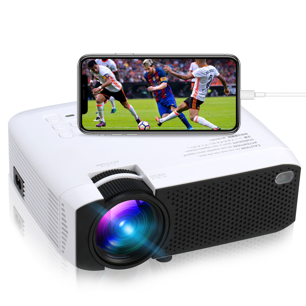 2019 Hot Selling LED <strong>Projector</strong> E400S, Cell phone <strong>Projector</strong> support mobile phones wireless/wired mirroring 1080P Full HD
