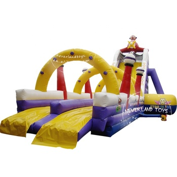 China Cliff Commercial Custom Double Lane Slip N Dry Factory Price Fashion Water Slides Floating Slide Inflatable For Sale